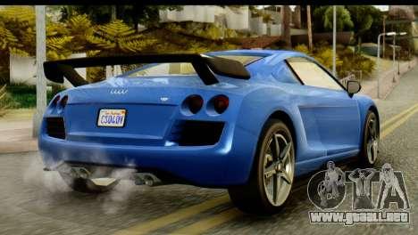 GTA 5 Obey 9F Coupe IVF para GTA San Andreas vista posterior izquierda