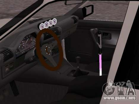 BMW M3 E30 Drift para GTA San Andreas vista posterior izquierda