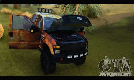 Ford F-250 Rusty Lifted 2010 para vista lateral GTA San Andreas