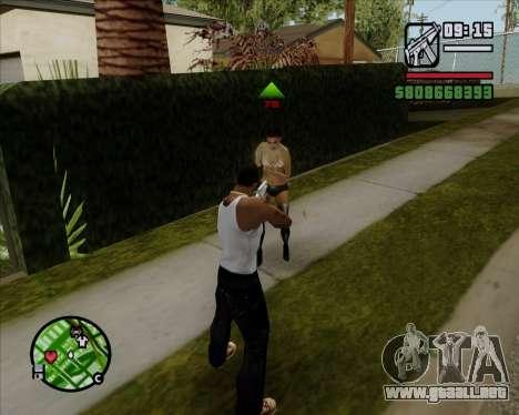 Indicador Digital de la vida de los opositores para GTA San Andreas tercera pantalla
