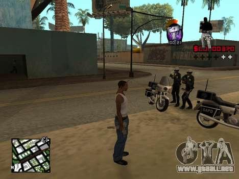 C-HUD by Alesha para GTA San Andreas segunda pantalla