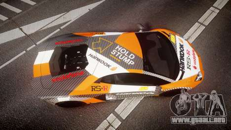 Lamborghini Aventador 2012 [EPM] Hankook Orange para GTA 4 visión correcta