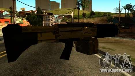 Combat MG from GTA 5 para GTA San Andreas segunda pantalla