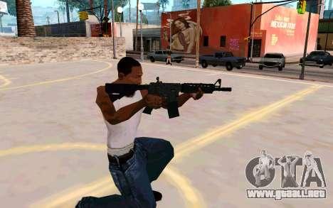 M4A1 (Dodgers) para GTA San Andreas tercera pantalla