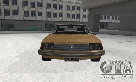 Renault 18 para GTA San Andreas vista posterior izquierda