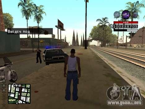 C-HUD by Granto para GTA San Andreas tercera pantalla