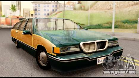 Elegant Station Wagon with Wood Panels para GTA San Andreas