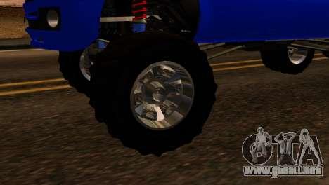 GTA 5 Vapid Sandking XL IVF para GTA San Andreas vista posterior izquierda