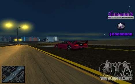 C-HUD Diamond Gangster para GTA San Andreas segunda pantalla