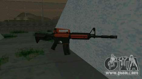 Orange M4A1 para GTA San Andreas segunda pantalla