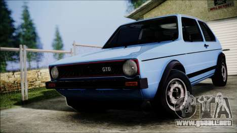 Volkswagen Golf Mk1 GTD para GTA San Andreas vista hacia atrás