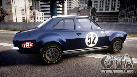 Ford Escort RS1600 PJ52 para GTA 4 left