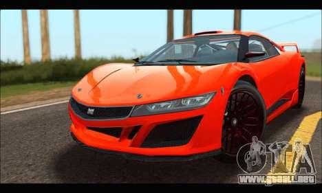 Dinka Jester Racecar (GTA V) para GTA San Andreas left