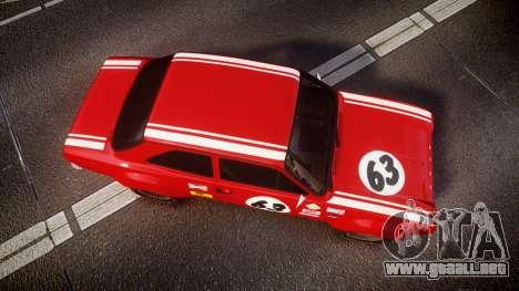 Ford Escort RS1600 PJ63 para GTA 4 visión correcta