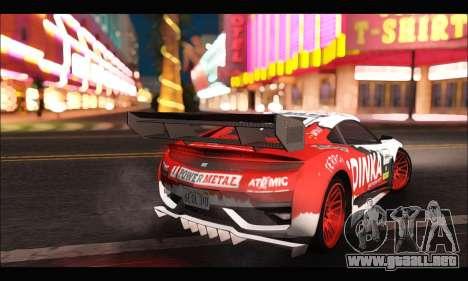 Dinka Jester Racear (GTA V) para GTA San Andreas vista posterior izquierda