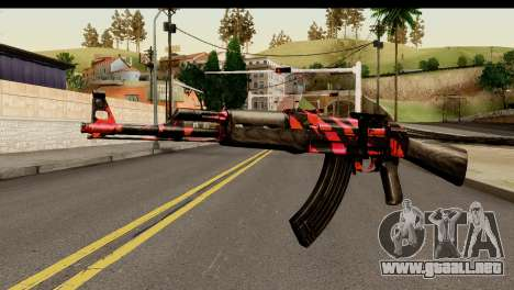Red Tiger AK47 para GTA San Andreas