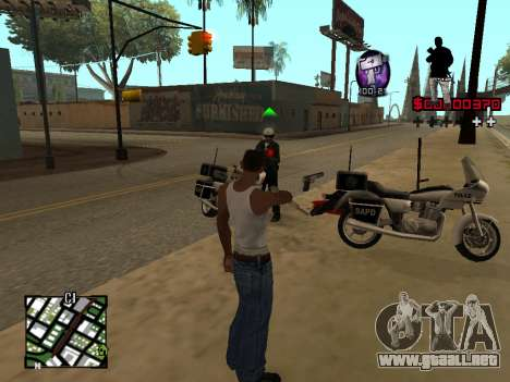 C-HUD by Alesha para GTA San Andreas tercera pantalla