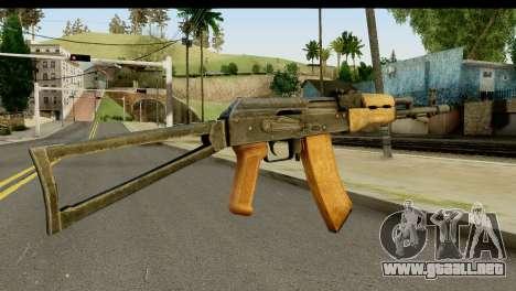 AKS-74 de Luz de Madera para GTA San Andreas segunda pantalla