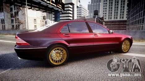 Mercedes-Benz S600 W220 para GTA 4 left