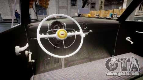 Ford Custom Fordor 1949 para GTA 4 vista interior