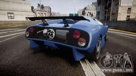 Pegassi Infernus GTA V Style para GTA 4 Vista posterior izquierda
