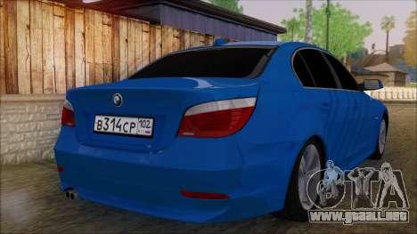 BMW 520i E60 para GTA San Andreas left