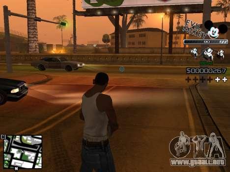 C-HUD Evil Mickey para GTA San Andreas tercera pantalla