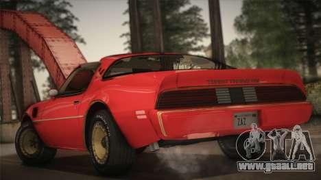 Pontiac Turbo Trans Am 1980 Bandit Edition para GTA San Andreas left