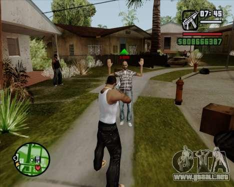 Indicador Digital de la vida de los opositores para GTA San Andreas