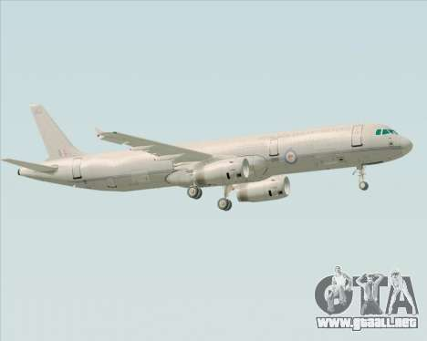 Airbus A321-200 Royal New Zealand Air Force para la visión correcta GTA San Andreas