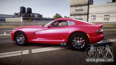 Dodge Viper SRT 2012 para GTA 4 left