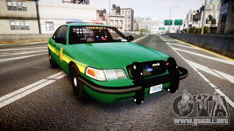 Ford Crown Victoria Sheriff [ELS] green para GTA 4