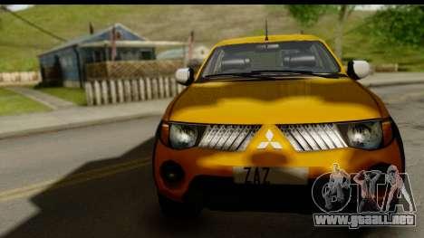 Mitsubishi L200 Triton v1.0 para GTA San Andreas vista posterior izquierda