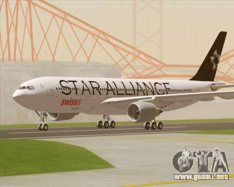 Airbus A330-200 SWISS (Star Alliance Livery) para visión interna GTA San Andreas