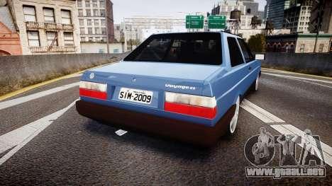 Volkswagen Voyage 1990 para GTA 4 Vista posterior izquierda