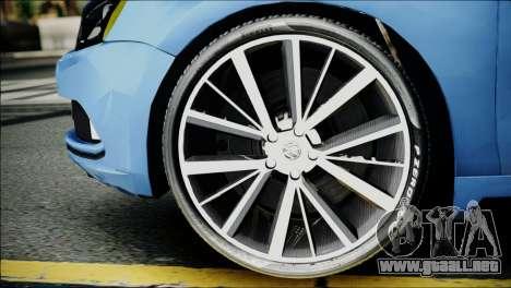 Volkswagen Jetta 2015 para GTA San Andreas vista posterior izquierda