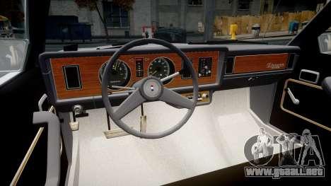 Ford Fairmont 1978 v1.1 para GTA 4 vista hacia atrás