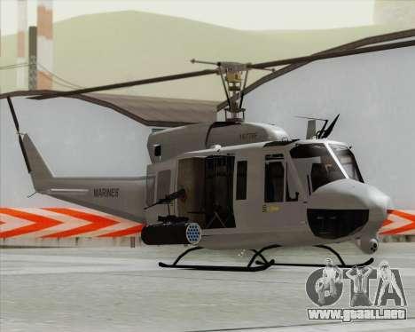 Bell UH-1N Huey USMC para GTA San Andreas vista posterior izquierda