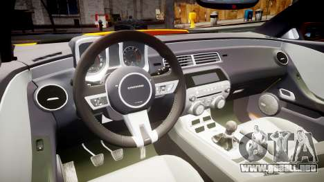 Chevrolet Camaro SS para GTA 4 vista hacia atrás