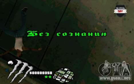 C-HUD Monster Energy para GTA San Andreas sucesivamente de pantalla