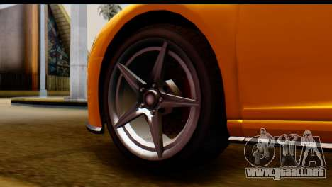 GTA 5 Obey 9F Coupe para GTA San Andreas vista posterior izquierda
