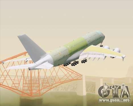 Airbus A380-800 F-WWDD Not Painted para vista inferior GTA San Andreas