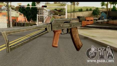 AKS-74 de Madera Oscura para GTA San Andreas segunda pantalla