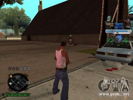 C-HUD для Ghetto para GTA San Andreas segunda pantalla