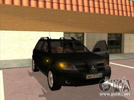 Mitsubishi Outlander para la visión correcta GTA San Andreas