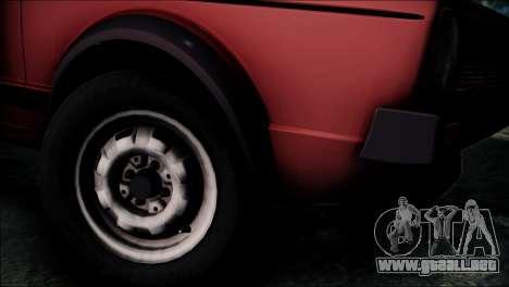 Volkswagen Golf Mk1 GTD para GTA San Andreas vista posterior izquierda