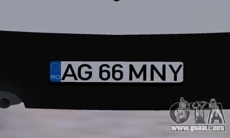 Dacia Logan Taxi para vista inferior GTA San Andreas