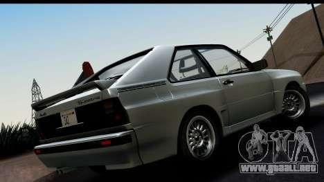 Audi Sport Quattro B2 (Typ 85Q) 1983 [HQLM] para GTA San Andreas left