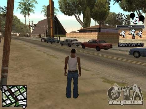 C-HUD Evil Mickey para GTA San Andreas segunda pantalla