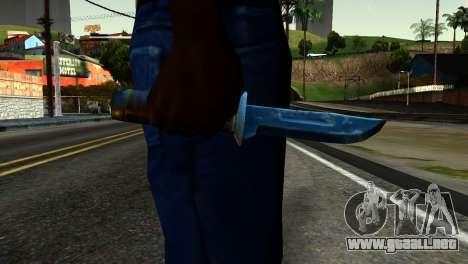 Knife from Kuma War para GTA San Andreas tercera pantalla